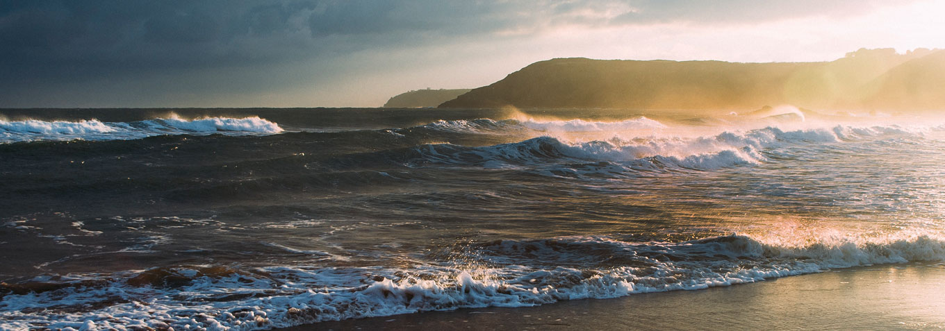 Ocean waves and sustainable seafood