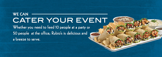 Burrito platters are great for events