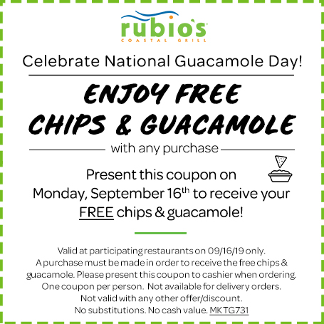 Free Chips & Guacamole with any purchase