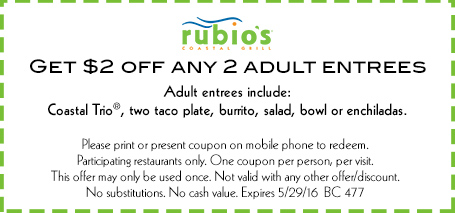 Rubio's catering coupon