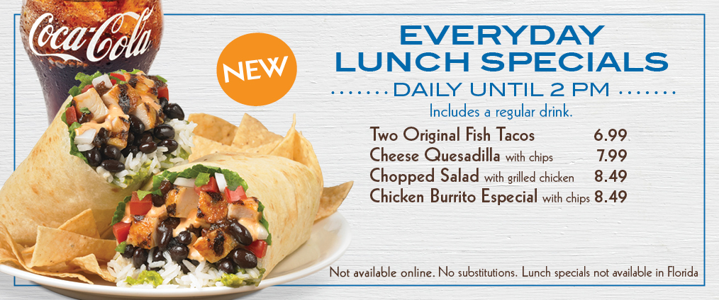 Rockin tacos norco for Lunch specials