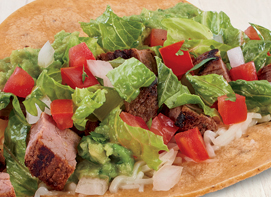 Classic All Natural Steak Taco available at Rubio's