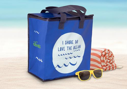 Celebrate World Oceans Day at Rubio's on June 8 with our free insulated tote bag with purchase