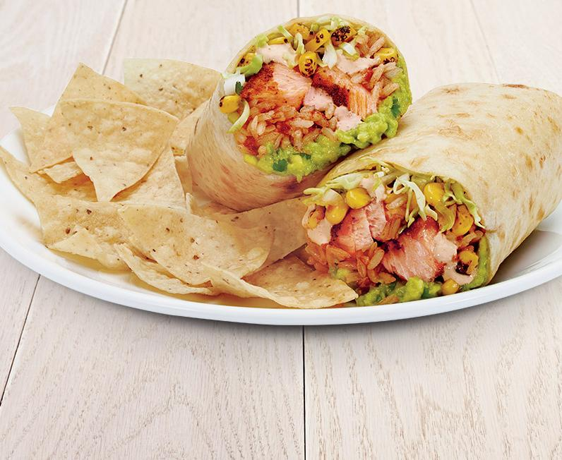 Blackened Salmon Burrito