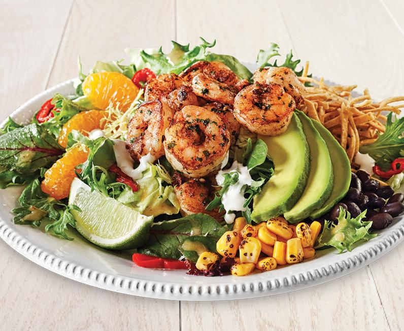 Chipotle Orange Shrimp Salad