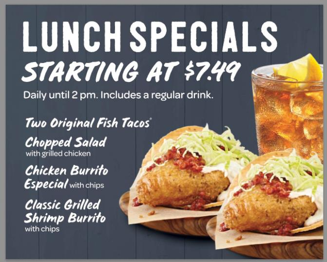 Rubio's Lunch Specials