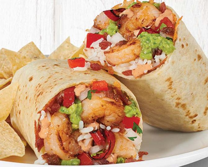 Shrimp and Bacon Burrito