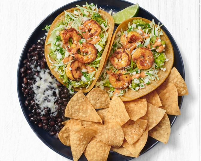 Smoky Oaxacan Shrimp Two Taco Plate