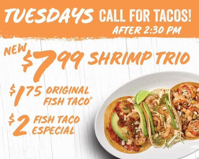Taco Tuesday Shrimp Trio