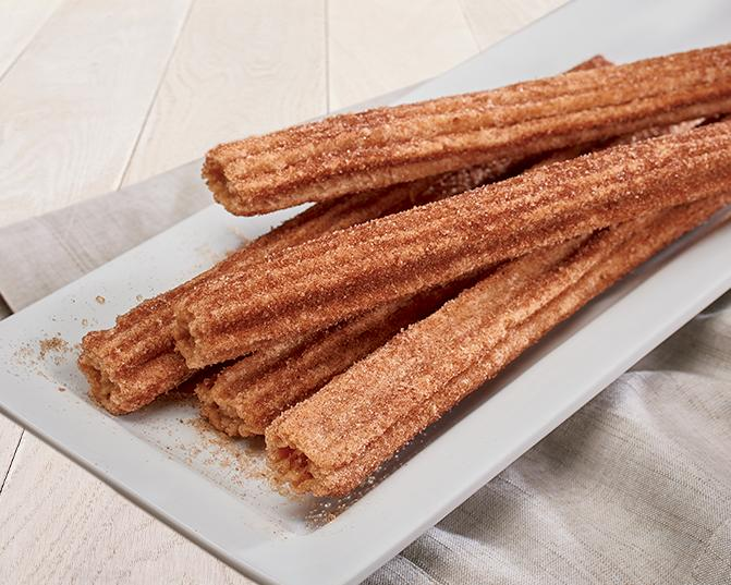 Warm cinnamon churros at Rubio's