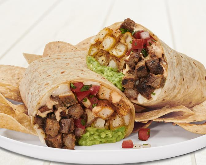 California Burrito with all natural steak at Rubio's