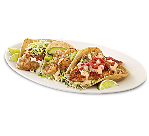 Three Seafood Tacos