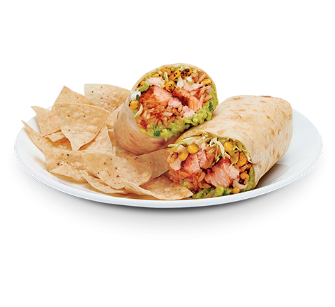 Grilled Salmon Burrito